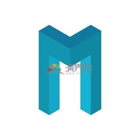 M字立体艺术字