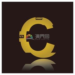 高级金色符号设计字母C