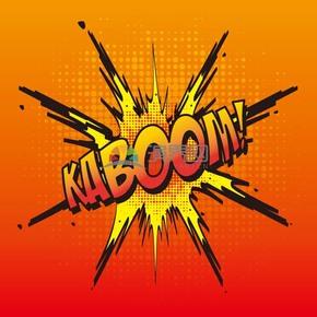 红色炸弹艺术字boom