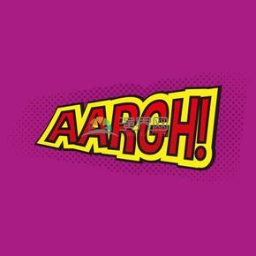 紫色背景艺术字AARGH