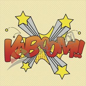 裸色背景创意艺术字背景图KABOOM!