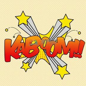 KABOOM黄色背景艺术字