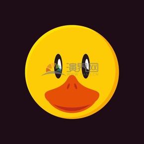 矢量卡通动物素材鸭子