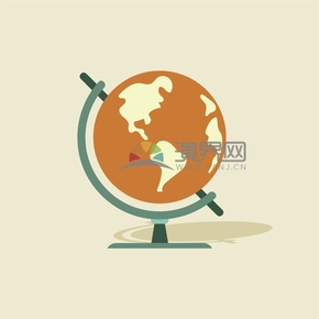 有趣的卡通地球仪创意设计