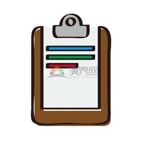 商業元素矢量文件夾板