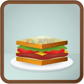 色香味俱全食物面包卡通有趣创意设计