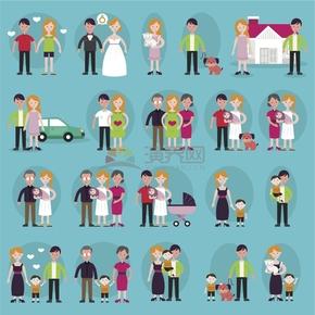 愛情發展歷程交往結婚生小孩全家福合集