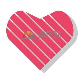 情人节爱情粉色条纹立体爱你