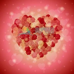 愛情情人節表白愛心賀卡表白卡華麗封面玫瑰