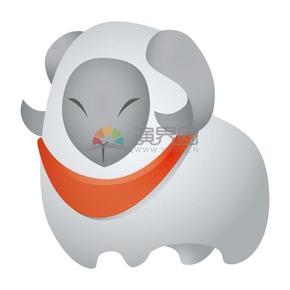 一只微笑着的山羊抽象风格