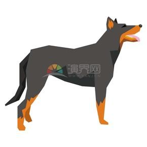 卡通动物猎狗