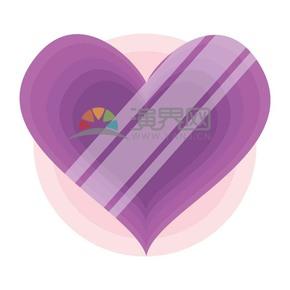 情人节情侣爱情爱心紫色