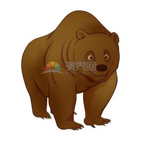 矢量卡通动物狗熊
