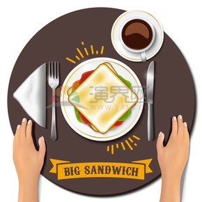 西餐三明治样式素材