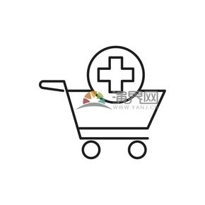 买药的购物车有趣的卡通创意设计