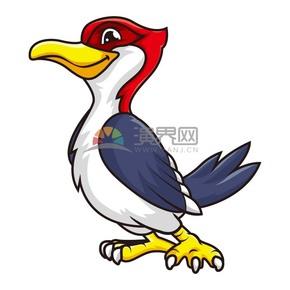 矢量卡通元素动物鸟类插画
