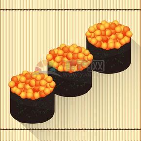 卡通精美寿司食物素材