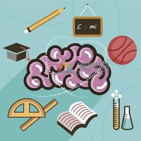趣味活潑簡約清新學生學習課堂文具卡通圖