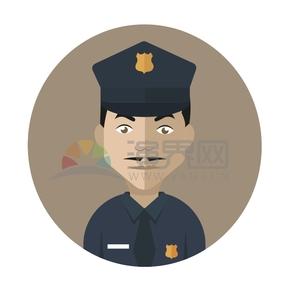 警察人物創意卡通元素設計合集