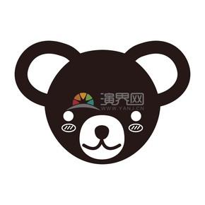 褐色可爱小熊