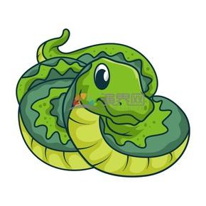 卡通動物蟒蛇素材