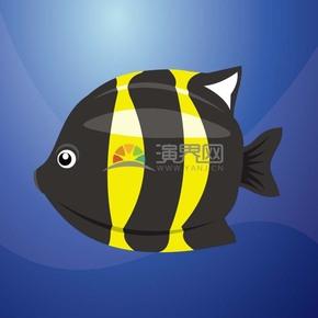 卡通小鱼样式素材