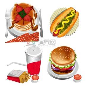 色香味俱全食物卡通有趣创意设计合集