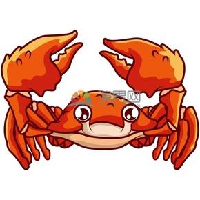 卡通可爱动物螃蟹