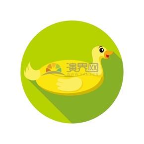 小黄鸭卡通元素