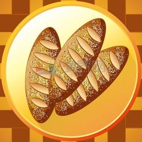 卡通精美面包素材