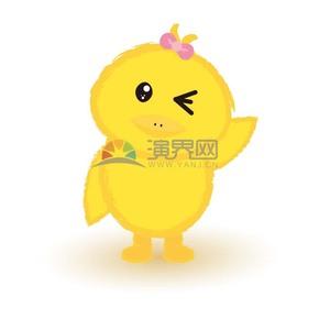 小黄鸡卡通元素