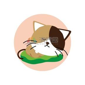 卡通黑白猫矢量素材