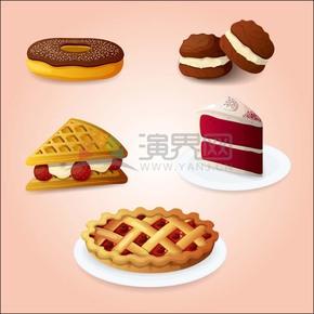 卡通蛋糕饼干素材合集