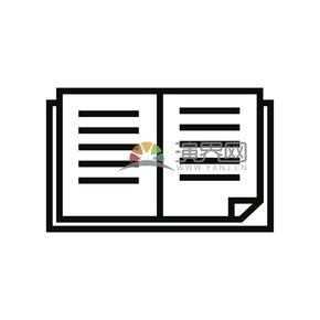 简洁创意黑色线条书籍本子卡通图标