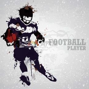 趣味活泼形象生动可爱足球远动员卡通图