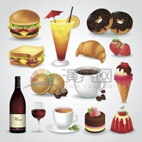 美食卡通元素食物創意設計