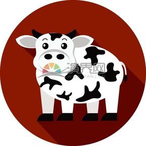 卡通可爱动物奶牛素材