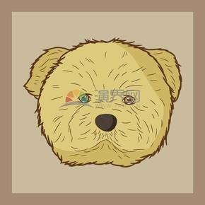 卡通手绘风动物小狗