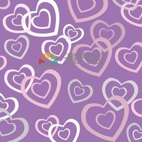 紫色清新爱心图案背景素材