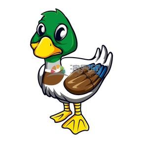 卡通可爱鸭子元素