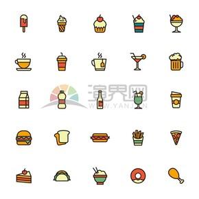 描边食物icon合集