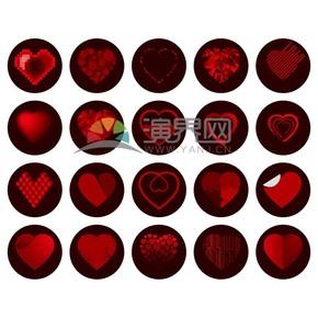 創意紅色愛心素材合集