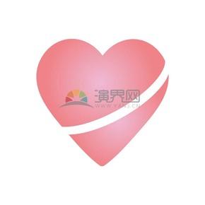 粉红爱心矢量素材