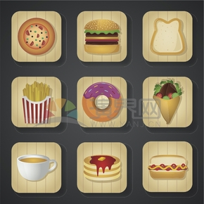 鋒味上的美食卡通元素食物創意設計