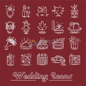 戒指红酒教堂手捧花西餐蛋糕新娘首饰结婚婚礼庆典合集