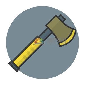 趣味活潑簡約清新建筑工具斧頭卡通圖
