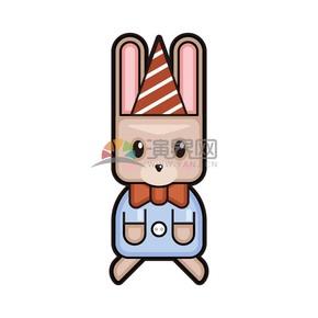 卡通矢量可爱动物兔子