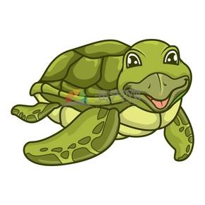 矢量卡通动物海龟