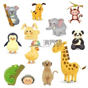 卡通可愛動物合集