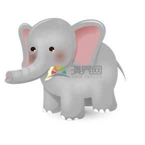卡通可爱动物大象素材